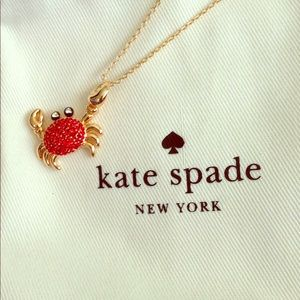 Kate spade shore thing crab necklace